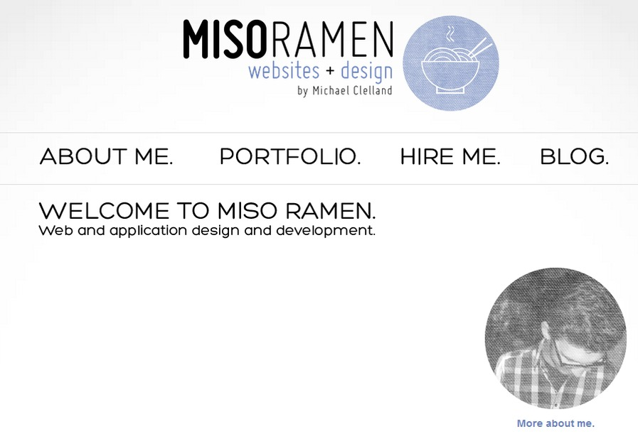 A great web design by Miso Ramen, Oslo, Norway: