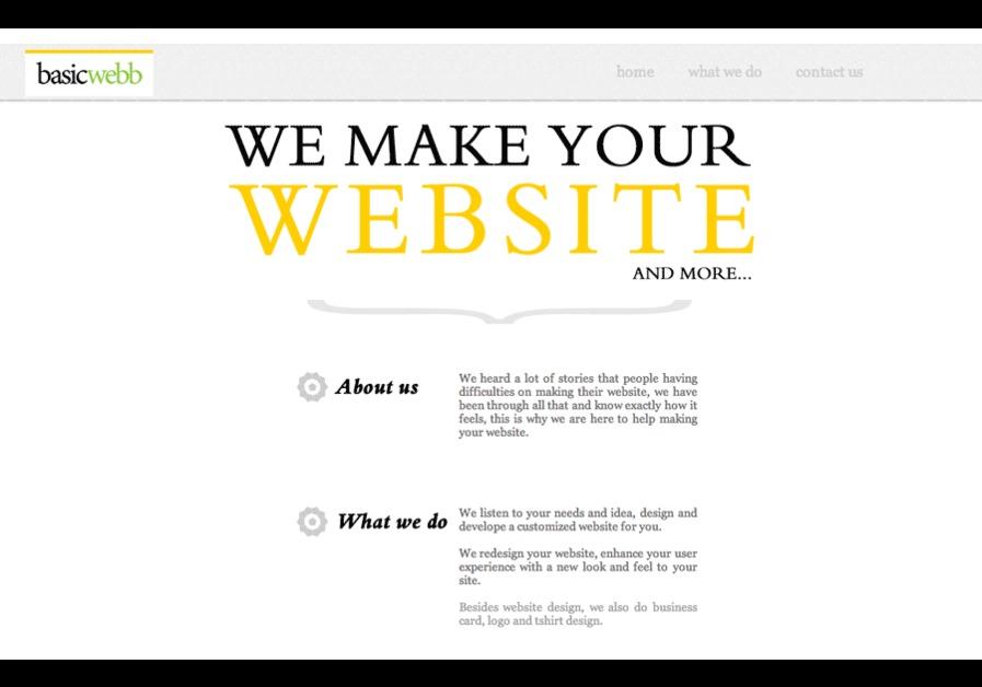 A great web design by Basic Webb, Central, Hong Kong: