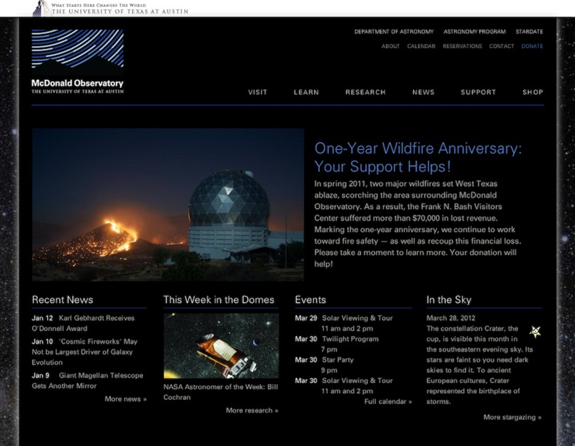 A great web design by Doug Addison Web Productions, Austin, TX: