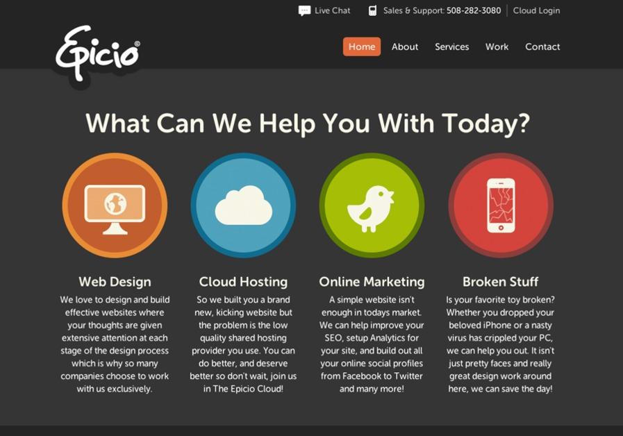 A great web design by Epicio Inc., Boston, MA: