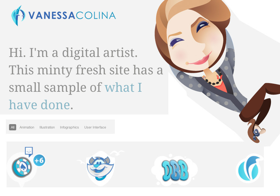 A great web design by Vanessa Colina, Valencia, Venezuela: