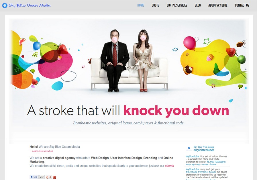 A great web design by Sky Blue Ocean Media, Dubai, United Arab Emirates: