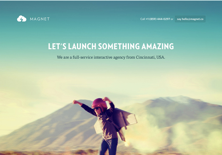 A great web design by Magnet Co., Cincinnati, OH: