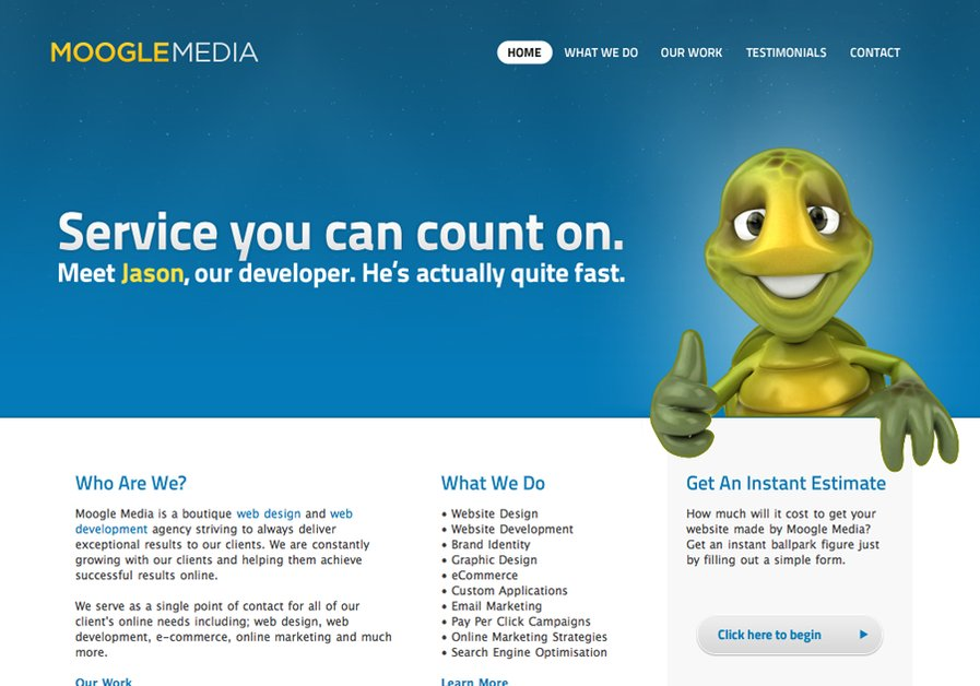 A great web design by Moogle Media, Melbourne, Australia: