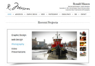 A great web design by Ronald Mason, Montreal, Canada: