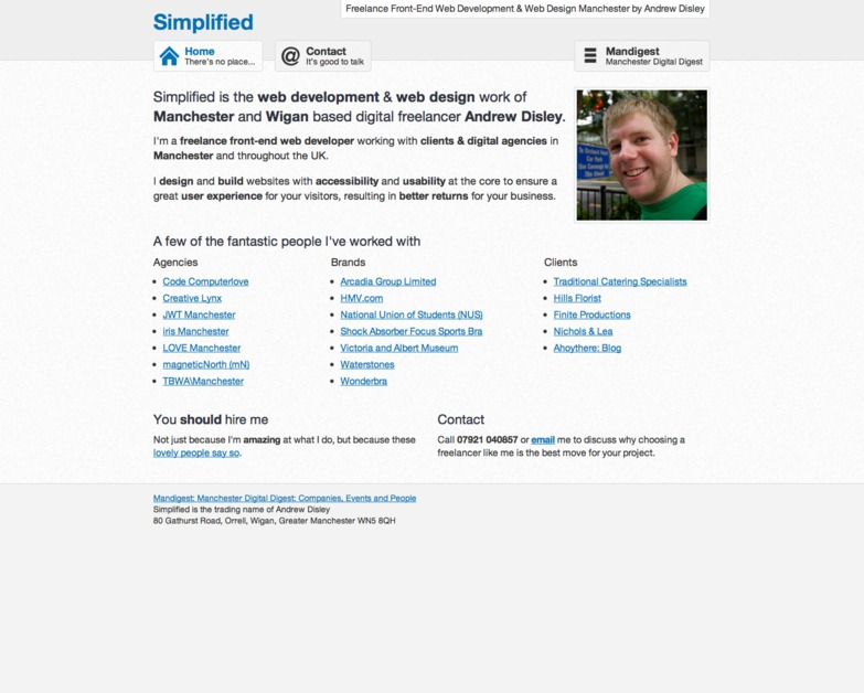 A great web design by Simplified, Manchester, United Kingdom: