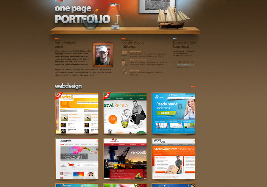 A great web design by DHDesign, Prague, Czech Republic: