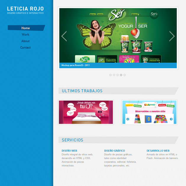 A great web design by Leticia Rojo DG, Buenos Aires, Argentina:
