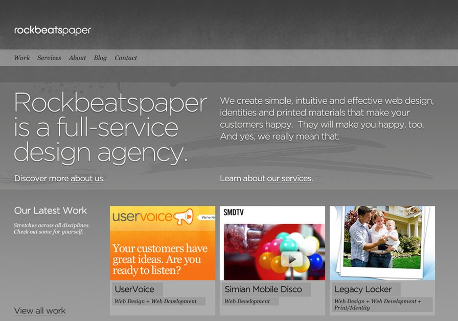 A great web design by rockbeatspaper, Greensboro, NC:
