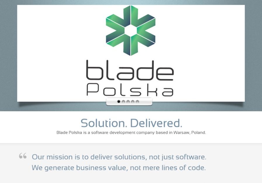 A great web design by Blade Polska s.c., Warsaw, Poland: