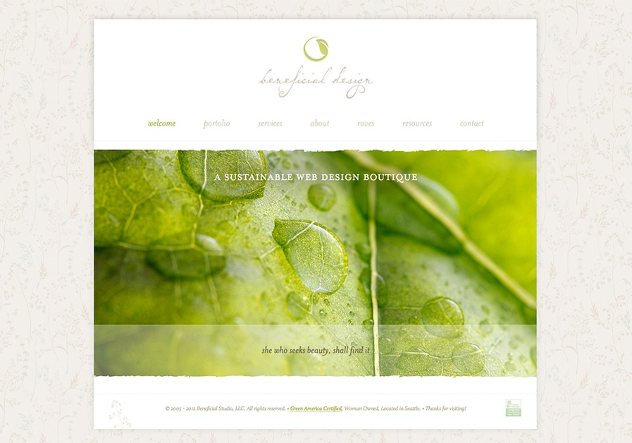 A great web design by Beneficial Design : Websites for Women, Seattle, WA: