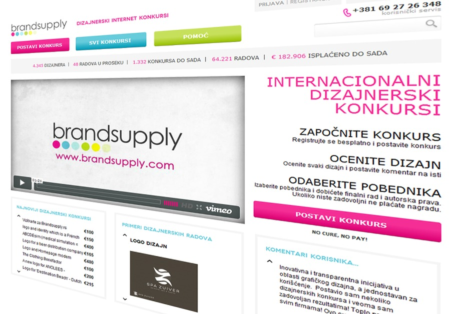 A great web design by Brandsupply Srbija, Belgrade, Serbia: