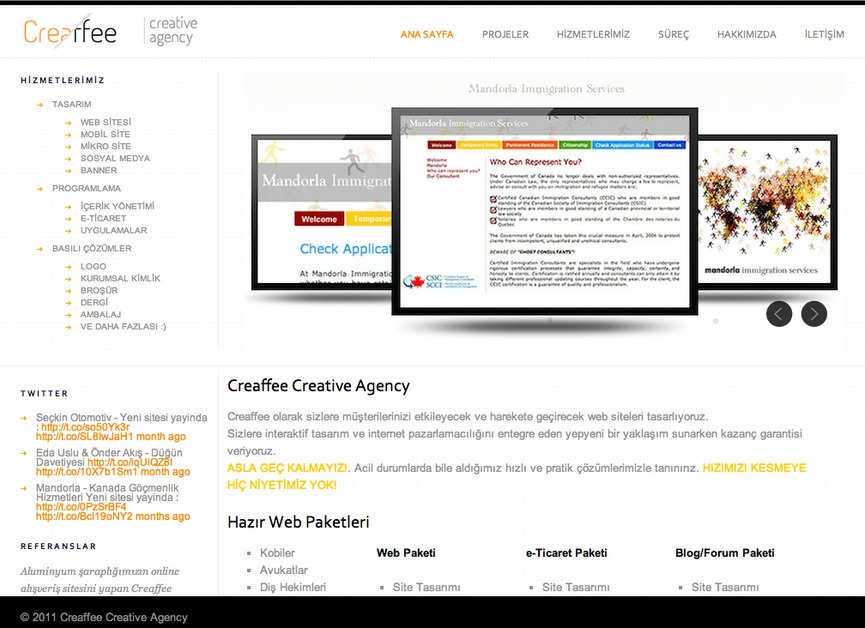 A great web design by Creaffee Creative Agency, Istanbul, Turkey: