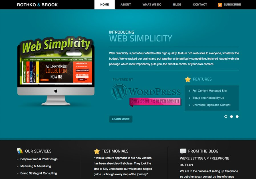 A great web design by Rothko Brook, Leeds, United Kingdom: