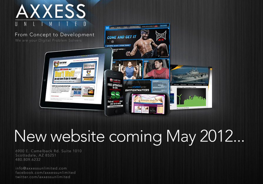 A great web design by Axxess Unlimited®, Scottsdale, AZ: