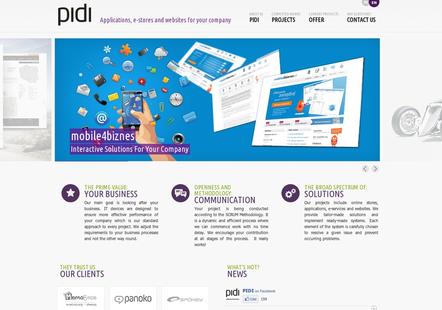 A great web design by PIDI Web Applications, Gliwice, Poland: