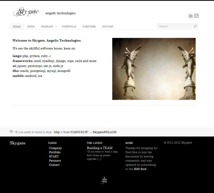 A great web design by Skygate - angelic technologies, Katowice, Poland: