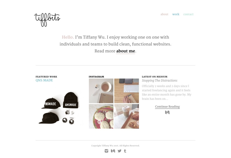 A great web design by Tiffany Wu, New York, NY: Responsive Website, Portfolio , Wordpress