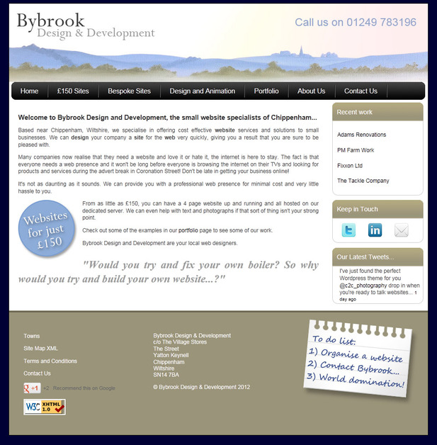 A great web design by Bybrook Design and Development, Chippenham Wiltshire, United Kingdom: