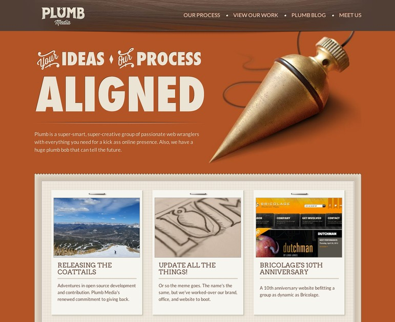 A great web design by Plumb Media, Pittsburgh, PA: