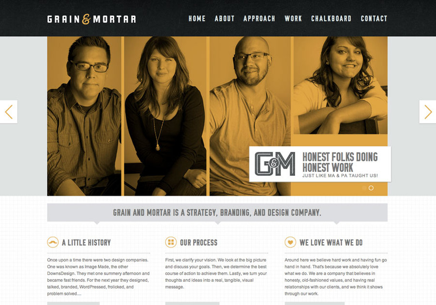A great web design by Grain & Mortar, Omaha, NE: