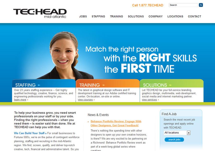 A great web design by TECHEAD Mid-Atlantic, Richmond, VA:
