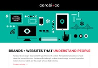 A great web design by Carabi + Co, Stockholm, Sweden: