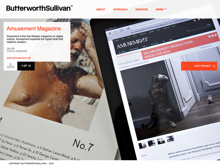 A great web design by ButterworthSullivan™, New York, NY: