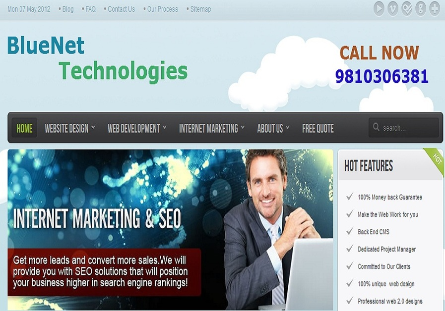 A great web design by BlueNet Technologies, New Delhi, India: