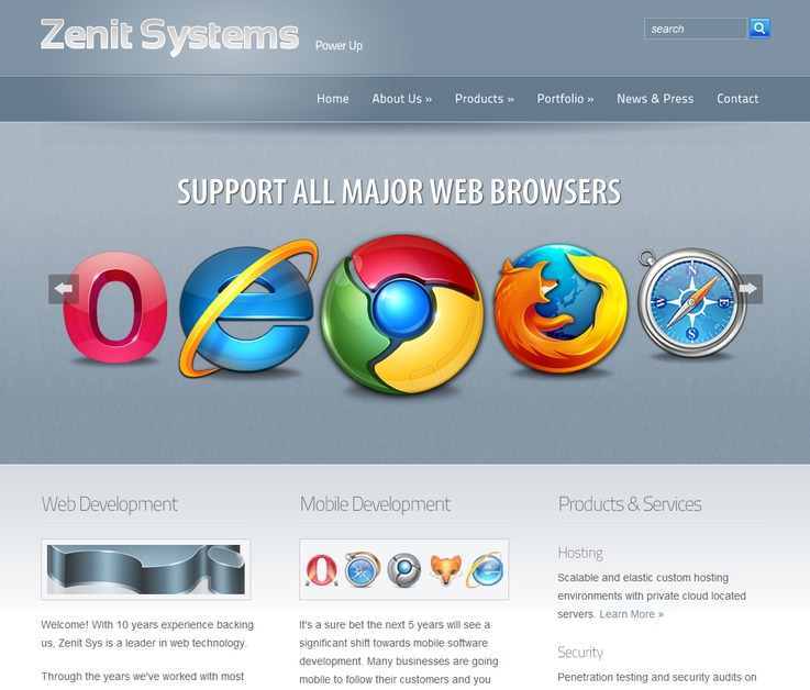 A great web design by Zenit Systems, London, United Kingdom: