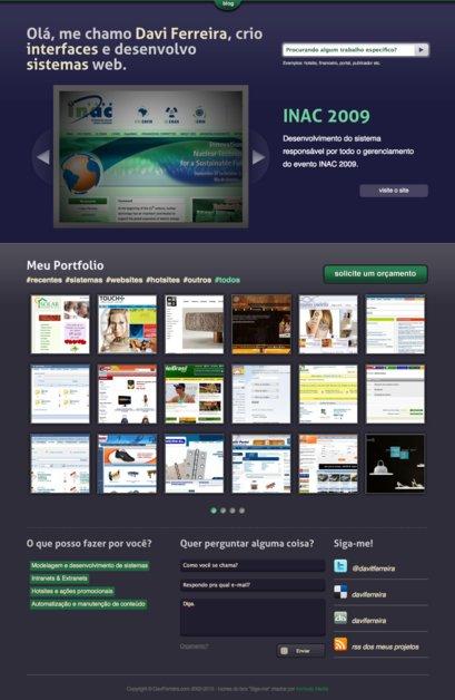 A great web design by Davi Ferreira, Rio de Janeiro, Brazil: