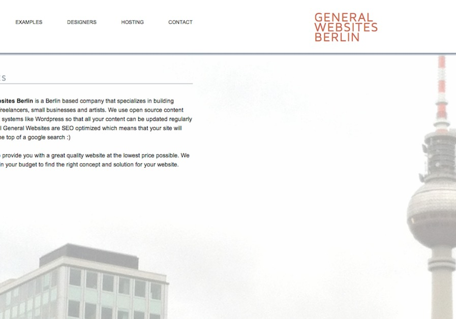 A great web design by General Websites Berlin, Berlin, Germany:
