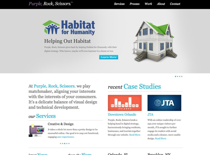 A great web design by Purple, Rock, Scissors., Orlando, FL: