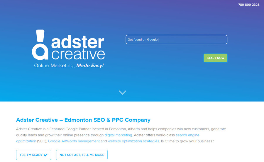 A great web design by Adster Creative, Edmonton, Canada: Responsive Website, Marketing Website , Marketing , Wordpress
