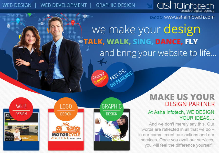 A great web design by Asha Infotech, London, United Kingdom:
