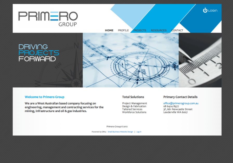 A great web design by OM4, Perth, Australia: