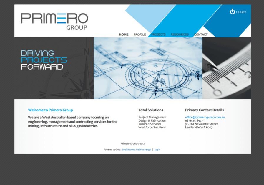 A great web design by OM4, Perth, Australia: