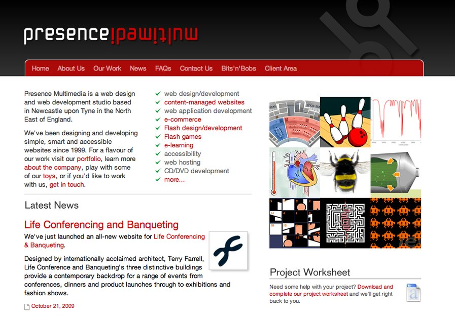 A great web design by Presence, Newcastle, United Kingdom:
