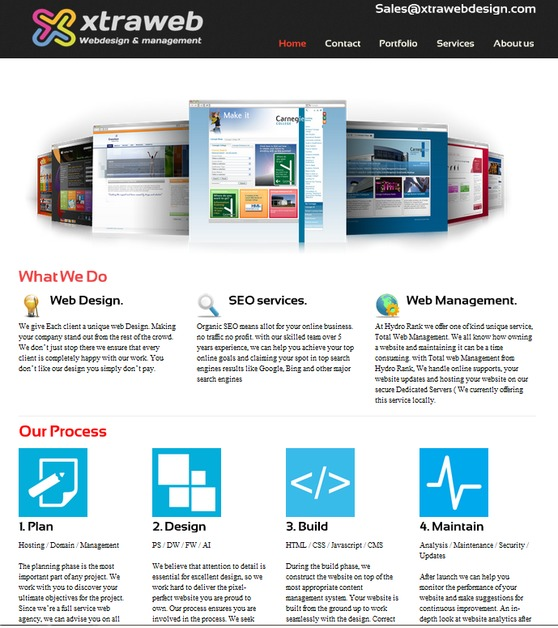 A great web design by xtra web design, Detroit, MI: