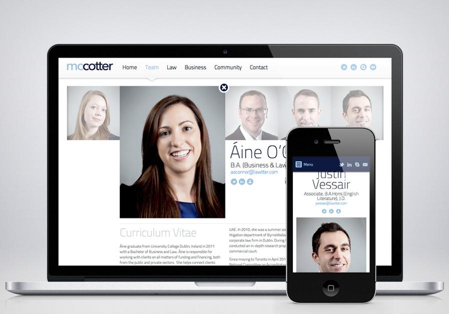 A great web design by Ninesides Inc., Toronto, Canada: