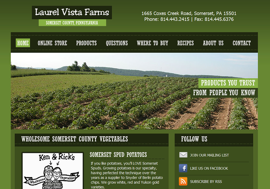 A great web design by Kashurba Web Design Group, Pittsburgh, PA:
