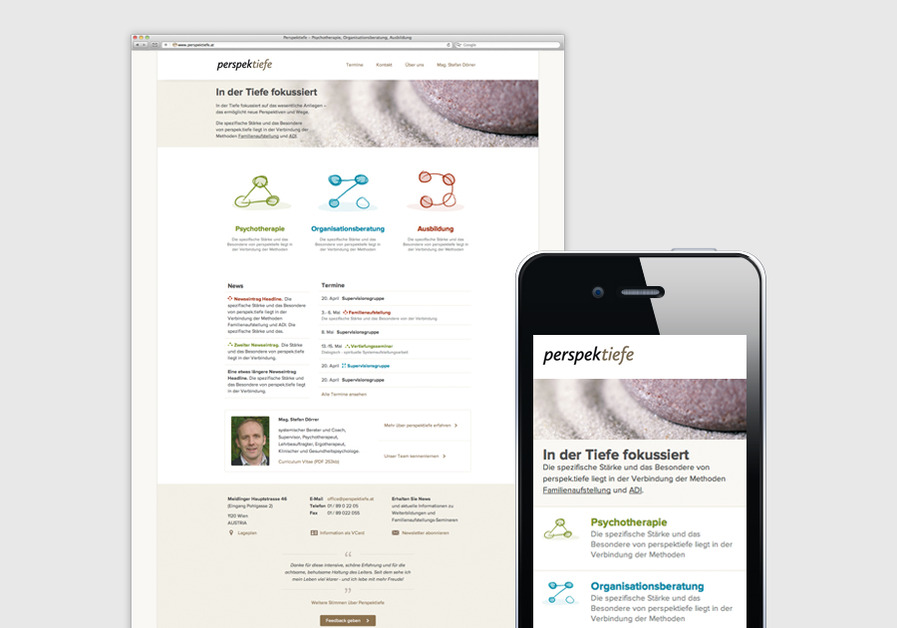 A great web design by INFOUND, Vienna, Austria: