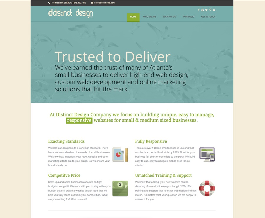 A great web design by Distinct Design Company, Atlanta, GA:
