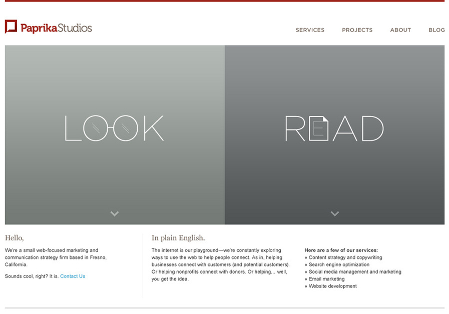 A great web design by Paprika Studios, Fresno, CA: