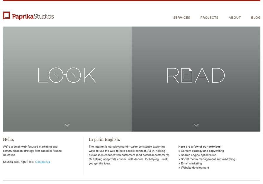 A great web design by Paprika Studios, Fresno, CA: