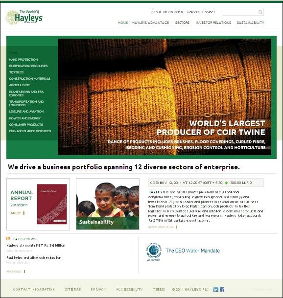 A great web design by Pyxle, Colombo, Sri Lanka: