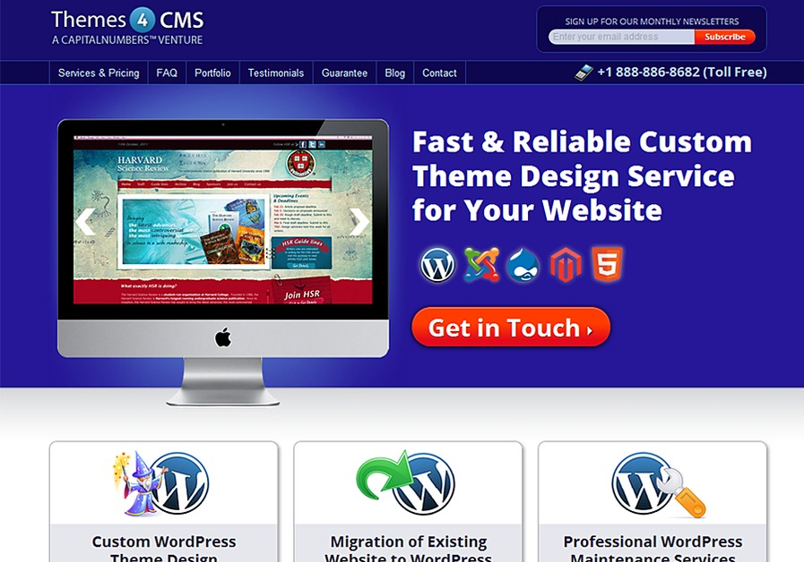A great web design by Themes4CMS.com, Kolkata, India: