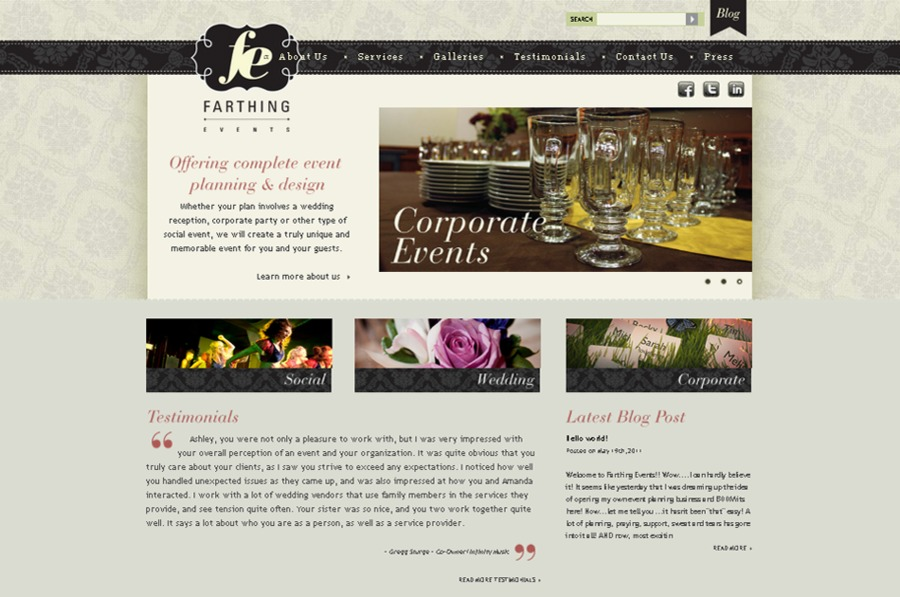 A great web design by Valpo Creative Marketing, Dallas, TX: