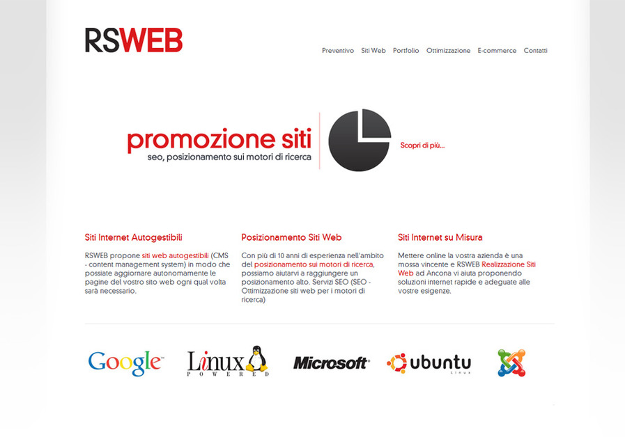 A great web design by RSWEB Ancona, Ancona, Italy: