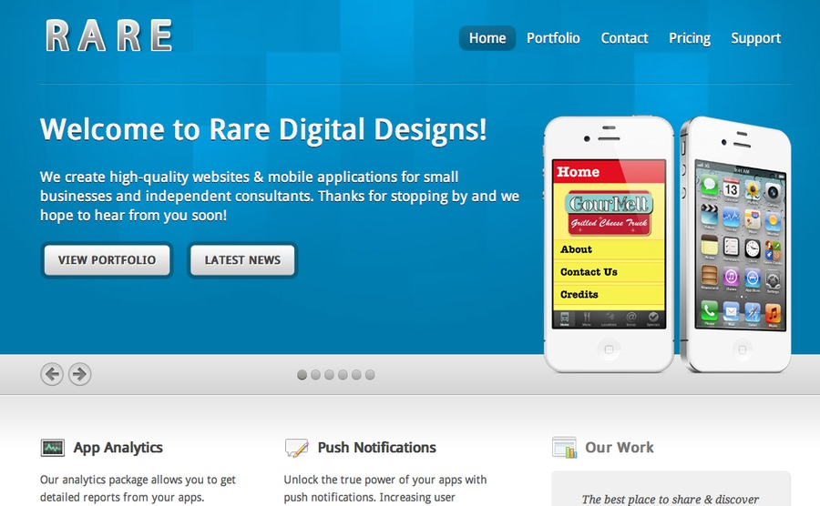A great web design by Rare Digital Designs, San Francisco, CA: